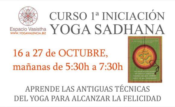 Curso 1ª iniciación Yoga Sadhana