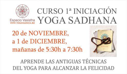 Curso 1ª iniciación Yoga Sadhana (Nov17)
