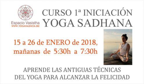 Curso 1ª iniciación Yoga Sadhana (Ene18)